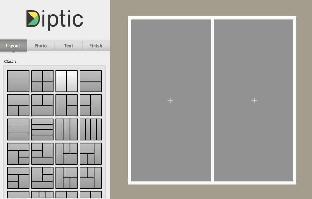 Dipticの起動画面