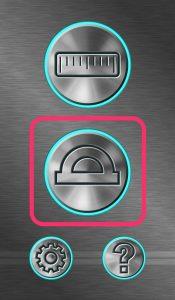 分度器ボタンをタップ