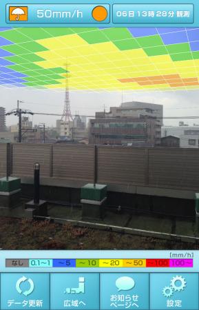 雨量をマッピング