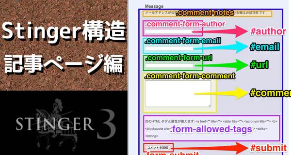 Stinger3カスタマイズ!あると嬉しいclass,id構造早見表2 -記事ページ編-