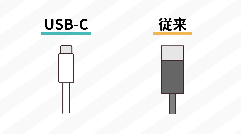 USB Type-Cが必要