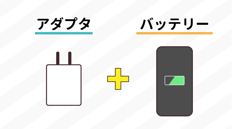 バッテリー機能があるか否か